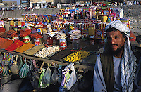Portrait of spices vendor at the market