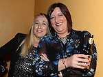 Samantha Davies and Lorraine Coyle at the White Collar Boxing at the O'Raghalligh's. Photo:Colin Bell/pressphotos.ie
