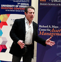 Chairman of the XPRIZE Foundation Peter Diamonds was a keynote speaker at the Darden School of Business Investing Conference in Charlottesville, VA. Photo/Andrew Shurtleff