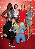 AJ Odudu, Jessie J, Emma Willis, Pixie Lott, Danny Jones and will.i.am at the Voice Kids UK 2019 Photocall held at The Royal Society of Arts, London on June 6th 2019<br /> CAP/ROS<br /> ©ROS/Capital Pictures