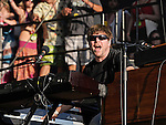 Kyle Hollingsworth of The String Cheese Incident performs during the Hangout Music Fest in Gulf Shores, Alabama on May 19, 2012.