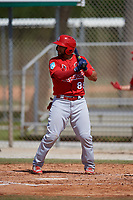 St. Louis Cardinals Jose Godoy (88) during a Minor League Spring Training Intrasquad game on March 28, 2019 at the Roger Dean Stadium Complex in Jupiter, Florida.  (Mike Janes/Four Seam Images)