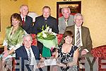 RETIRMENT: In the Meadowlands Hotel Tralee Máire Mhic Giolla Rua (retired from principal  Gaeil Scoil Easmainn), Killeen, Tralee and was presented with a special presentation by Seosamh Ó Conchubhair on Friday night. Front l-r: Cáit Uí Chonchúir, Seosamh Ó Conchubhair (Cathaoirleach), Máire Mhic Giolla Rua (rtd), Padraig Ó Dálaigh, agus Brian Caball. Back l-r: Pádraig Ó Dálaigh, An tAthair Gearóid Ó Mac Fhionnmhacáin (Iar Séiplíneach) agus Pádraig Mac Amhlaoibh................