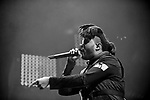 MIAMI, FL - DECEMBER 19: The Weeknd performs during The Weeknd 'The Madness Tour' at American Airlines Arena on Saturday December 19, 2015 in Miami, Florida. ( Photo by Johnny Louis / jlnphotography.com )