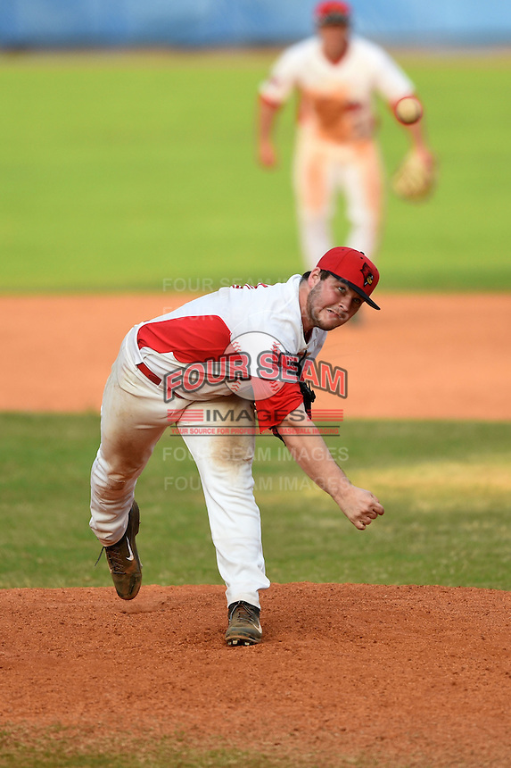 Illinois State Redbirds pitcher Mitch Vogrin (20) during a game against the Bowling Green Falcons on March 11, 2015 at Chain of Lakes Stadium in Winter Haven, Florida.  Illinois State defeated Bowling Green 8-7.  (Mike Janes/Four Seam Images)