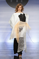 Model walks runway in an outfit by Alyssa Wardrop, during the Future of Fashion 2017 runway show at the Fashion Institute of Technology on May 8, 2017.