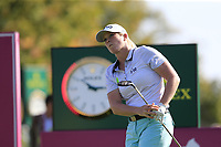 Jacqui Concolino (USA) tees off the 6th tee during Thursday's Round 1 of The Evian Championship 2018, held at the Evian Resort Golf Club, Evian-les-Bains, France. 13th September 2018.<br /> Picture: Eoin Clarke | Golffile<br /> <br /> <br /> All photos usage must carry mandatory copyright credit (© Golffile | Eoin Clarke)