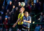 ***BETALBILD***  <br /> Uppsala 2015-05-21 Fotboll Superettan IK Sirius - Mj&auml;llby AIF :  <br /> Mj&auml;llbys Marcus Ekenberg i en duell med Sirius Kim Skoglund under matchen mellan IK Sirius och Mj&auml;llby AIF <br /> (Foto: Kenta J&ouml;nsson) Nyckelord:  Superettan Sirius IKS Mj&auml;llby AIF