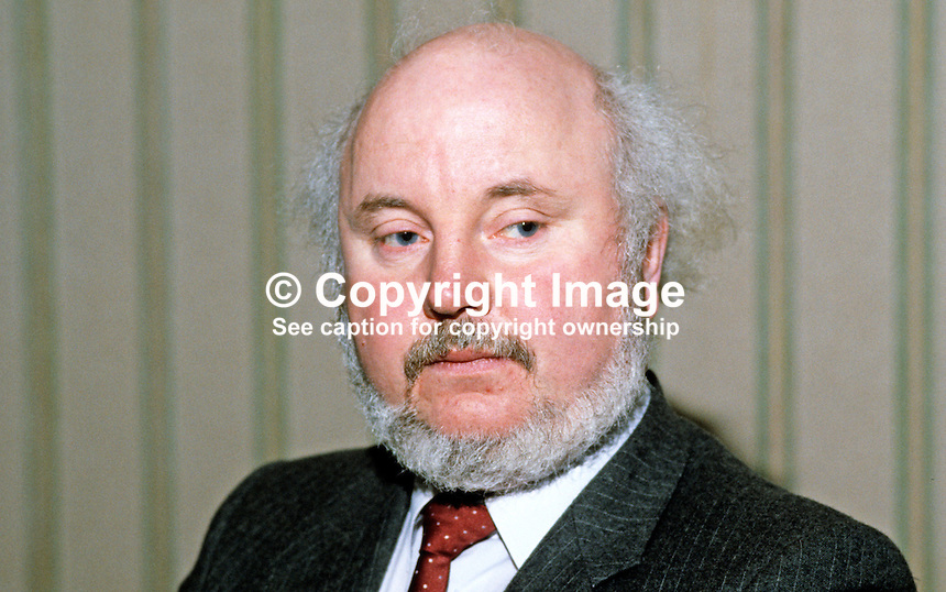 Paddy O'Hanlon, founder member, SDLP, Social Democratic &amp; Labour Party, N Ireland, UK, 19840011POH.<br /> <br /> Copyright Image from Victor Patterson,<br /> 54 Dorchester Park, Belfast, UK, BT9 6RJ<br /> <br /> t1: +44 28 90661296<br /> t2: +44 28 90022446<br /> m: +44 7802 353836<br /> <br /> e1: victorpatterson@me.com<br /> e2: victorpatterson@gmail.com<br /> <br /> For my Terms and Conditions of Use go to<br /> www.victorpatterson.com