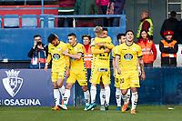 CD Lugo during the Spanish la League soccer match between CA Osasuna and CD Lugo at Sadar stadium, in Pamplona, Spain, on Saturday, <br /> April 28, 2018.