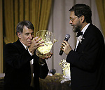 Stephen Schwartz and David Staller attends the Gingold Theatrical Group's Golden Shamrock Gala at 3 West Club on March 16, 2019 in New York City.