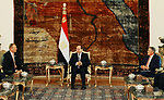 Egyptian President Abdel Fattah al-Sisi meets with a delegation from the US Congress, in Cairo, Egypt, on July 5, 2017. Photo by Egyptian President Office