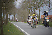 Sep Vanmarcke (BEL/LottoNL-Jumbo) taking his turn up front, ultimately battling for victory<br /> <br /> 78th Gent - Wevelgem in Flanders Fields (1.UWT)