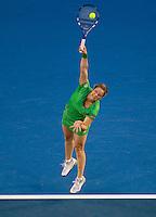 Kim Clijsters (BEL) (3) against Li Na (CHN) (9) in the Finals of the women's singles. Kim Clijsters beat Li Na 3-6 6-3 6-3..International Tennis - Australian Open  -  Melbourne Park - Melbourne - Day 13 - Sat 29th January 2011..© Frey - AMN Images, Level 1, Barry House, 20-22 Worple Road, London, SW19 4DH.Tel - +44 208 947 0100.Email - Mfrey@advantagemedianet.com.Web - www.amnimages.photshelter.com