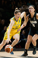Melbourne, 15 August 2015 - Katie-Rae EBZERY of Australia in action during game one of the 2015 FIBA Oceania Championships in women's basketball between the Australian Opals and the New Zealand Tall Ferns at Rod Laver Arena in Melbourne, Australia. Aus def NZ 61-41. (Photo Sydney Low / sydlow.com)
