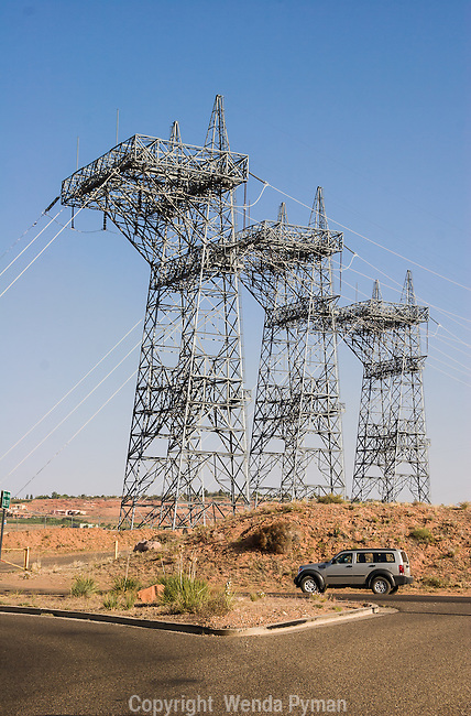 Glen Canyon Dam power towers, Page, AZ