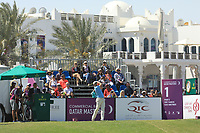 Oliver Wilson (ENG) in action on the 1st tee during the final round of the Commercial Bank Qatar Masters, Doha Golf Club, Doha, Qatar. 10/03/2019<br /> Picture: Golffile | Phil Inglis<br /> <br /> <br /> All photo usage must carry mandatory copyright credit (&copy; Golffile | Phil Inglis)