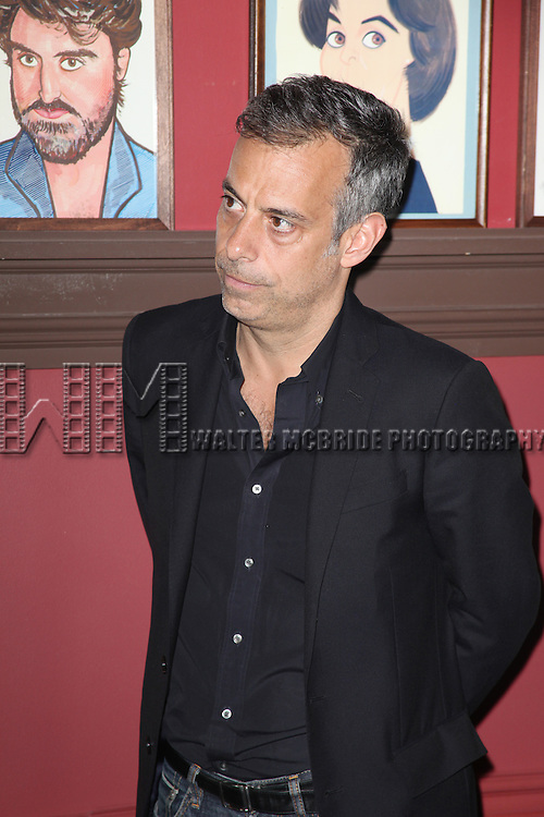 Joe Mantello attends Sardi's unveils Caricatures of 'The Normal Heart' Tony Award Nominees Ellen Barkin, John Benjamin Hickey & Joe Mantello at Sardi's in New York City.