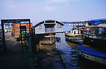 A088Y4 Houseboats Pin Mill Suffolk England