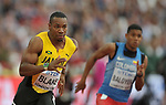 Yohan Blake (JAM) in the mens 200m heats. IAAF world athletics championships. London Olympic stadium. Queen Elizabeth Olympic park. Stratford. London. UK. 07/08/2017. ~ MANDATORY CREDIT Garry Bowden/SIPPA - NO UNAUTHORISED USE - +44 7837 394578