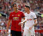 Gary Neville takes a breather during the Michael Carrick Testimonial match at the Old Trafford Stadium, Manchester. Picture date: June 4th 2017. Picture credit should read: Simon Bellis/Sportimage