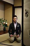 Kyoto, Jan 29 2013 - Portrait of HOSOO president Masataka Hosoo.