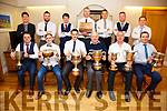 The Seine boat Crew of the Liberator who had a clean sweep at the regattas this year again claimed ownership of the Johnny O'Mahony Trophy, pictured here front l-rl Paudie O'Donovan, Cian O'Shea, Adrian O'Connell, Donal Tommy O'Sullivan(Sec CRC), Paul Murphy, Mike Coffey, back l-r; Denis Moriarty, Pa McGill, Stephen McCarthy, Mike O'Connor(Cox), Brian Foran, John Paul O'Connor, Aidan O'Sullivan & missing were Mike Murphy, Stephen O'Sullivan, Ian Casey & Mike Joe O'Sullivan.
