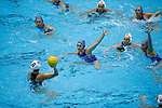 INDIANAPOLIS, IN - MAY 14: General view as Maddie Musselman (7) of UCLA defends during the Division I Women's Water Polo Championship against Stanford University held at the IU Natatorium-IUPUI Campus on May 14, 2017 in Indianapolis, Indiana. Stanford edges UCLA, 8-7, to win fifth women's water polo title in the past seven years. (Photo by Joe Robbins/NCAA Photos/NCAA Photos via Getty Images)
