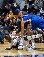 Bak Bak of California fights for a loose ball during the game against UCSB Gauchos at Haas Pavilion in Berkeley, California on December 19th, 2011.   California defeated UC Santa Barbara, 7-50.
