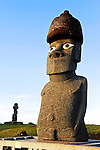 Moai on Easter Island, Chile.