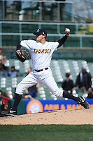 Trenton Thunder pitcher Shaffer Hall (19) during game against the Richmond Flying Squirrels at ARM & HAMMER Park on April 14 2013 in Trenton, NJ.  Trenton defeated Richmond 15-1.  (Tomasso DeRosa/Four Seam Images)