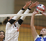 Douglas High School volleyball against McQueen in Gardnerville, Nev., on Monday, Sept. 21, 2010..Photo by Cathleen Allison