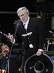 Opera tenor singer Placido Domingo performs an opera song during the Concert of the Angel in Mexico City, December 19, 2009. Domingo is one of the most important opera singers ans he has made over one hundred recordings and appeared in different films too. Photo by Heriberto Rodriguez