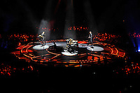 LONDON, ENGLAND - APRIL 3: Matt Bellamy, Dominic Howard and Chris Wolstenholme of 'Muse' performing at the O2 Arena on April 3, 2016 in London, England.<br /> * Press use only. No merchandising *<br /> CAP/MAR<br /> &copy;MAR/Capital Pictures /MediaPunch ***NORTH AND SOUTH AMERICAS ONLY***