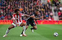 Luis Antonio Valencia of Man Utd & Eric Maxim Choupo-Moting of Stoke City during the Premier League match between Stoke City and Manchester United at the Britannia Stadium, Stoke-on-Trent, England on 9 September 2017. Photo by Andy Rowland.