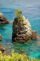 Sedimentary Rock formations of the cliffs of Paleokastritsa Corfu, Greek Ionian Islands