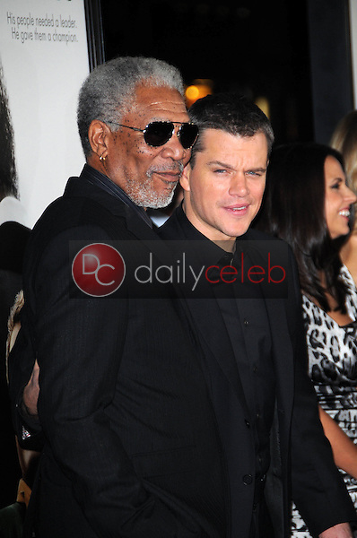 Morgan Freeman and Matt Damon<br />