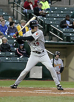 May 15, 2004:  Corey Hart of the Indianapolis Indians, Triple-A International League affiliate of the Milwaukee Brewers, during a game at Frontier Field in Rochester, NY.  Photo by:  Mike Janes/Four Seam Images