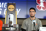 12 December 2015: Clemson's Andrew Tarbell. The NCAA held a press conference at Three Points at the Sporting Kansas City offices one day before the Clemson University Tigers play the Stanford University Cardinal in a 2015 NCAA Division I Men's College Cup championship match.