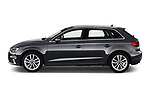 Car driver side profile view of a 2019 Audi A3 Sportsportback Sport 5 Door Hatchback