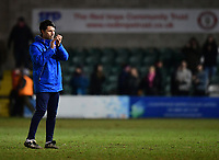 Lincoln City manager Danny Cowley applauds the fans at the final whistle<br /> <br /> Photographer Chris Vaughan/CameraSport<br /> <br /> The EFL Sky Bet League Two - Lincoln City v Cheltenham Town - Tuesday 13th February 2018 - Sincil Bank - Lincoln<br /> <br /> World Copyright &copy; 2018 CameraSport. All rights reserved. 43 Linden Ave. Countesthorpe. Leicester. England. LE8 5PG - Tel: +44 (0) 116 277 4147 - admin@camerasport.com - www.camerasport.com