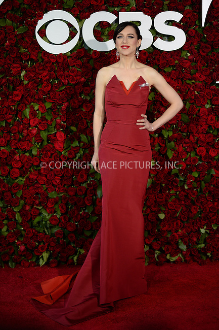 www.acepixs.com<br /> June 12, 2016  New York City<br /> <br /> Lena Hall attending the 70th Annual Tony Awards at The Beacon Theatre on June 12, 2016 in New York City.<br /> <br /> Credit: Kristin Callahan/ACE Pictures<br /> <br /> <br /> Tel: 646 769 0430<br /> Email: info@acepixs.com