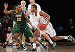 SIOUX FALLS, SD - MARCH 6:  Mason Archie, II #2 of IUPUI drives against Marcellus Barksdale #22 of North Dakota State in the 2016 Summit League Tournament. (Photo by Dick Carlson/Inertia)