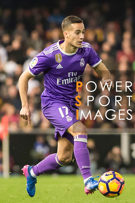 Lucas Vazquez of Real Madrid in action during their La Liga match between Valencia CF and Real Madrid at the Estadio de Mestalla on 22 February 2017 in Valencia, Spain. Photo by Maria Jose Segovia Carmona / Power Sport Images