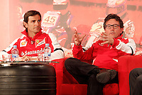 The test driver for Ferrari Pedro de la Rosa (l) and Luca Baldisserri director of the Ferrari Driver Academy during the gala Santander  Karting Champions 2012..(Alterphotos/Acero) NortePhoto