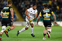 Taulupe Faletau of Bath Rugby in possession. Aviva Premiership match, between Northampton Saints and Bath Rugby on September 15, 2017 at Franklin's Gardens in Northampton, England. Photo by: Patrick Khachfe / Onside Images