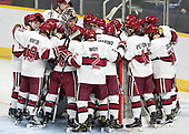 - The Harvard University Crimson defeated the Air Force Academy Falcons 3-2 in the NCAA East Regional final on Saturday, March 25, 2017, at the Dunkin' Donuts Center in Providence, Rhode Island.
