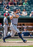 23 June 2019: Trenton Thunder shortstop Kyle Holder in action against the New Hampshire Fisher Cats at Northeast Delta Dental Stadium in Manchester, NH. The Thunder defeated the Fisher Cats 5-2 in Eastern League play. Mandatory Credit: Ed Wolfstein Photo *** RAW (NEF) Image File Available ***