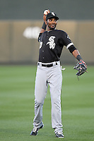 Alexei Ramirez #10 of the Chicago White Sox plays in a spring training game against the Arizona Diamondbacks at Salt River Fields on March 10, 2011 in Scottsdale, Arizona. .Photo by:  Bill Mitchell/Four Seam Images.