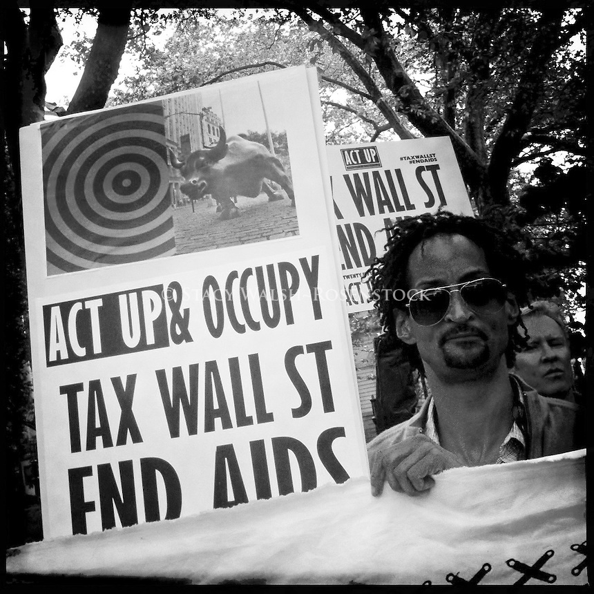 Act-Up joined by Occupy Wall Street for their 25th Anniversary March.